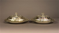 lidded serving dishes (pair) by topazio casquinna (co.)