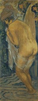 femme au bain by georges manzana-pissarro