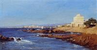 vue d'un port d'orient by henry augustin valentin