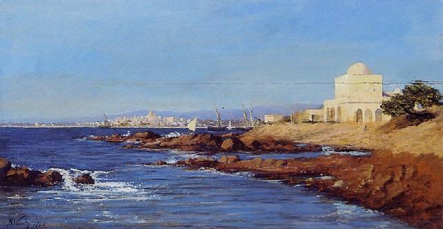 vue dun port dorient by henry augustin valentin