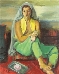 odalisque in green clothing by iosif iser