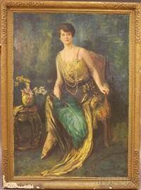 portrait of mrs. albert washburn by robert heinrich freiherr von doblhoff
