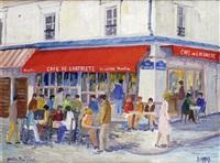 paris, le quartier mouffetard, et le café de l'arbalète by jacques camus