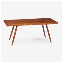 cherry rectangular end table, 1959 by george nakashima