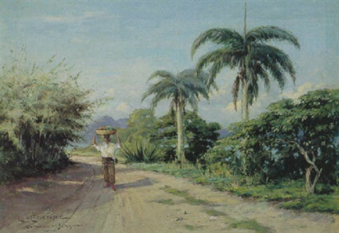 figure on a coastal road brazil by christophe luiz