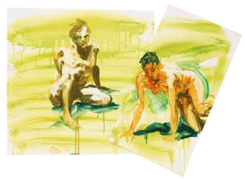 untitled on 2 joined sheets by eric fischl