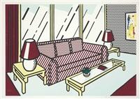 red lamps (from interior series) by roy lichtenstein