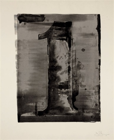 figure 1 from black numeral series by jasper johns