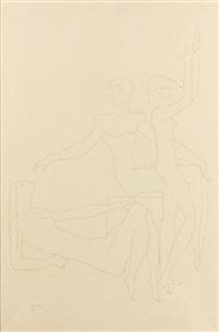 trois personnages nus by joseph csaky