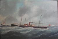 the steamer kilmorack by victor charles edouard adam