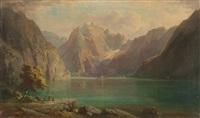 am hechtsee mit blick auf das kaisergebirge by franz kreuzer