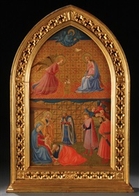 the annunciation and the adoration of the magi by fra angelico