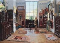blick in ein maleratleier by jakob koganowsky