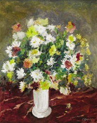 still life with flowers by frank gervasi
