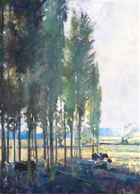 poplars, west end street by sergei filitov