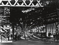 under the el at the battery by berenice abbott