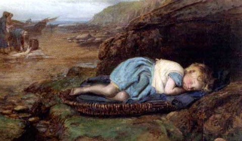 asleep on the rocks by henry hetherington emmerson