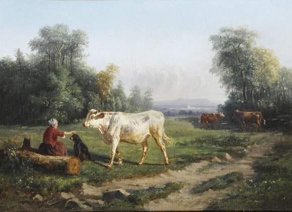 la gardienne de vaches by paul jean pierre gélibert