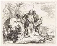 l'astrologo e il giovane soldato (from vari capricci) by giovanni battista tiepolo