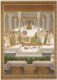 fête à la cour de shah jahan by anonymous-indian-mughal (19)