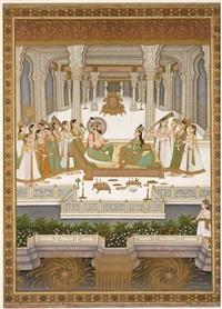 fête à la cour de shah jahan by anonymous-indian-mughal (19)