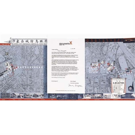 Kassel city defense vertical view map by Hong Hao on artnet