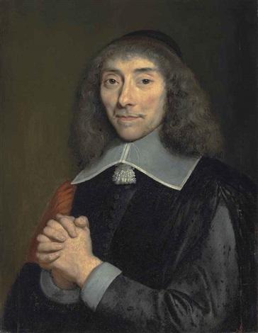 portrait of jean antoine de mesmes (1598-1673), half-length, in black robes by philippe de champaigne