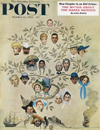 studies for the family tree by norman rockwell