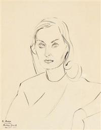 portrait of elisabeth lewyt by andrey queuille