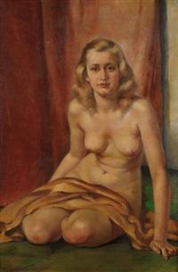 jeune femme assise by philippe de rougemont