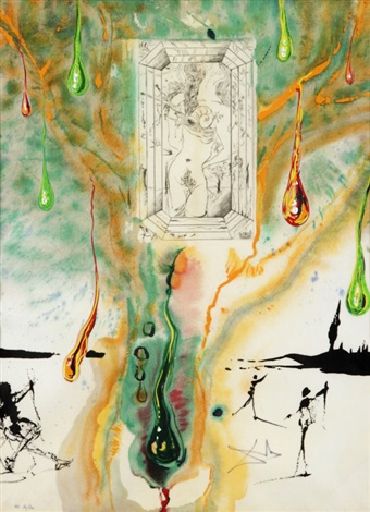 the emerald table from alchemy of the philosophers series by salvador dalí