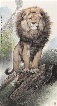 东方狮吼 (lion) by ji zefu