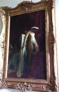femme sortant du bain by gyula glatter