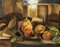 still life with pears by alexandra exter