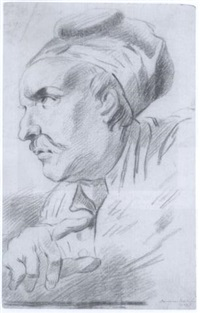 study of a man in profile to the left by jacob van beck