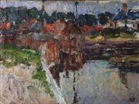 au bord du canal à gand by albert baertsoen