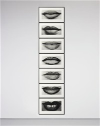tower of lips (7 works) by sam samore
