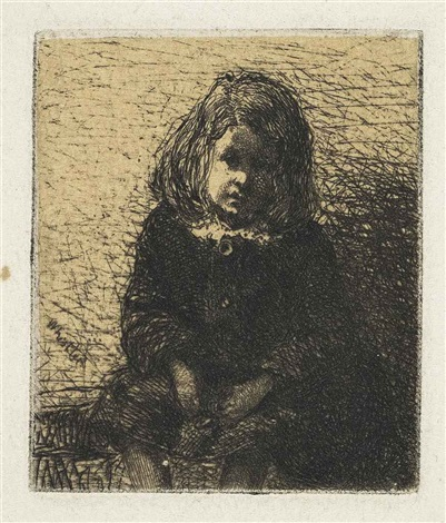 little arthur from the french set and annie seated 2 works by james abbott mcneill whistler
