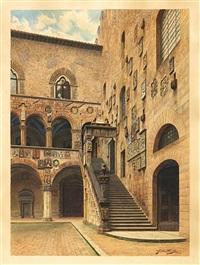 florenz. innenhof des palazzo bargello by giuila cecchi
