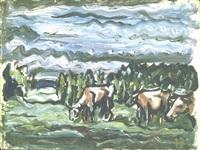 ohne titel (kühe auf der weide) by holmead (clifford holmead phillips)