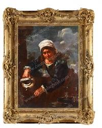 femme à la fontaine ou allégorie de l'eau by bernhard keil