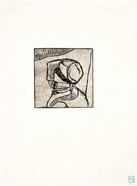 bretonne en coiffe, vue de l'arrière by armand seguin