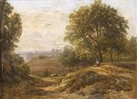 paysage du midi avec berger et troupeau by jean-antoine-simeon fort