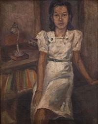 portrait of rohana by mochtar apin