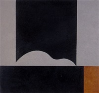 black and brown and white abstract by peter haigh