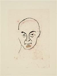 portret of lucebert by frank lodeizen