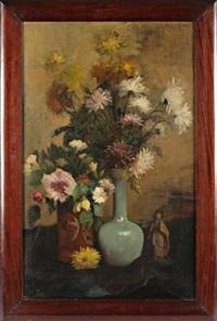 nature morte aux vases de fleurs by jules félix ragot
