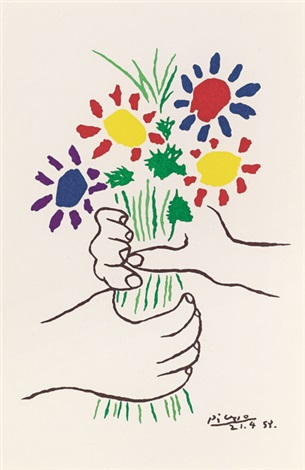 花束 bouquet of peace by pablo picasso