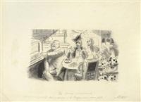 les soirées parisiennes, instantanés de paris et five o'clock tea-tricots (4 works) by charles laborde