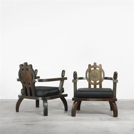 lounge chairs pair by ettore zaccari